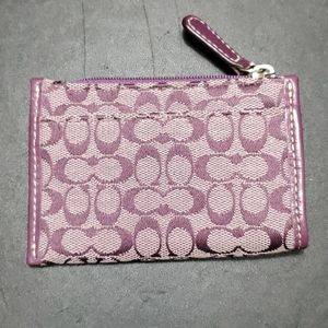 Coach purplish key fob/change purse